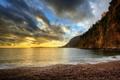 Картинка море, вода, галька, скала, камни, фото, города