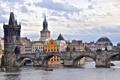 Картинка дома, Прага, Чехия, Карлов мост, река Влтава