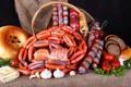 Картинка сосиски, еда, мясо, Колбаса