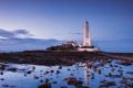 Картинка дорога, море, вода, тучи, камни, маяк, дома
