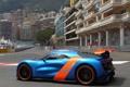 Картинка машина, Concept, Renault, вид сбоку, blue, orange, Alpine