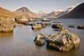 Картинка камни, горы, пейзаж, озеро