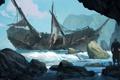 Картинка море, корабль, остров, Черный Флаг, Black Flag, Кредо Убийцы IV, Assassin's Creed IV