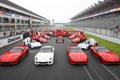Картинка Феррари, гоночный, Ferrari, болид, команда, трибуны, фон