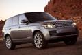 Картинка горы, серый, фары, Land Rover, Range Rover, передок, Ленд Ровер