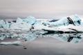 Картинка ледник, айсберги, лед, природа