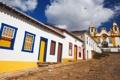 Картинка дом, улица, церковь, Бразилия, штат Минас-Жерайс, Тирадентес