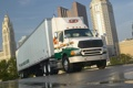Картинка город, truck, фура, дождь, sterling, грузовик