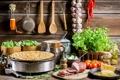 Картинка грибы, сыр, перец, блины, помидоры, петрушка, огурцы