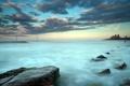 Картинка море, пейзаж, закат, природа