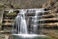 Картинка лес, природа, река, водопад