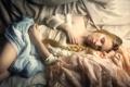 Картинка девушка, отдых, сон, коса, нега, Kamila