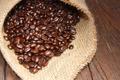 Картинка кофейные зерна, мешковина, coffee beans, burlap