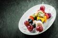 Картинка десерт, dessert, фруктовый шашлык, fruit kebabs