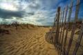 Картинка песок, море, пляж, пейзаж, забор