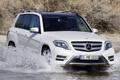 Картинка белый, вода, Mercedes-Benz, Мерседес, джип, GLK, передок