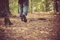Картинка осень, листья, ноги, обувь, джинсы