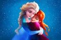 Картинка рисунок, мультфильм, Frozen, Disney, Anna, Elsa, Холодное сердце