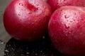 Картинка вода, капли, яблоки, фрукты