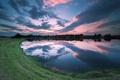 Картинка природа, пейзаж, небо, озеро