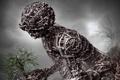 Картинка фантастика, растение, робот, арт, железо