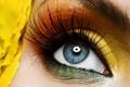 Картинка глаз, ресницы, тени