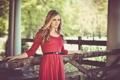 Картинка платье, красное платье, dress, загон, светлые волосы, blonde hair, red dress