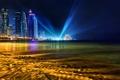 Картинка пляж, ночь, город, Qatar, Doha