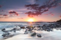Картинка камни, океан, рассвет, берег, Kihei, Hawai