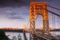 Картинка USA, США, bridge, Нью-Джерси, New Jersey, мост Джорджа Вашингтона