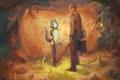 Картинка звери, карта, демон, фея, арт, хвост, рога