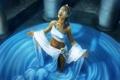 Картинка вода, девушка, арт, колонны, оракул