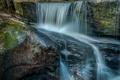 Картинка природа, река, камни, водопад