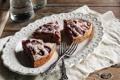 Картинка ягоды, клубника, пирог, десерт, выпечка, вилки