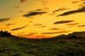 Картинка трава, небо, природа, пейзажи, закат солнца, вечер