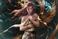 Картинка legend of the cryptids, под водой, русалка, арт, девушка, море