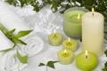 Картинка полотенце, свечи, бамбук, Spa, спа, bamboo, candles