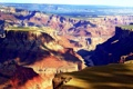 Картинка скалы, разноцветие, природа, тень, горы, аризона