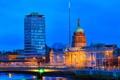 Картинка огни, здание, вечер, Дублин, таможня