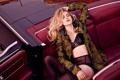 Картинка машина, девушка, актриса, блондинка, сидит, сиденье, Teresa Palmer