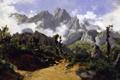 Картинка природа, Горный Пейзаж, скалы, Карлос де Хаэс, картина