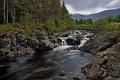Картинка лес, горы, река, камни, Шотландия, Scotland, River Orchy