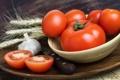 Картинка колоски, помидоры, чеснок