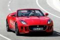 Картинка красный, Jaguar, водитель, red, передок, F-Type, V8 S