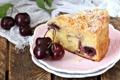 Картинка вишня, пирог, десерт, выпечка
