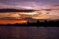 Картинка небо, пейзаж, закат, природа, река, вечер, водоём
