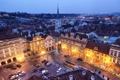 Картинка дорога, машины, город, здания, вечер, Прага, Чехия
