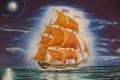 Картинка корабль, картина, живопись, john, Летучий голландец, tansey