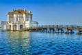 Картинка море, мост, природа, город, фото, здание, Италия