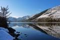 Картинка зима, горы, снег, Природа, озеро